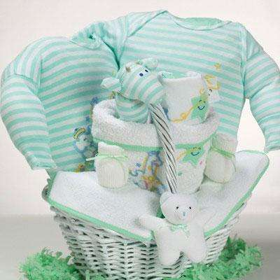 Catch-A-Star Baby Boy Gift Basket