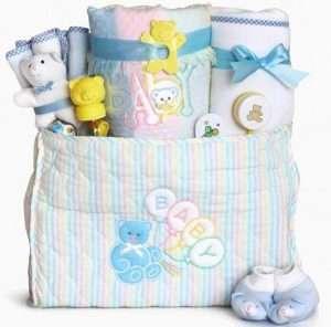 Deluxe Diaper Tote Baby Gift Basket