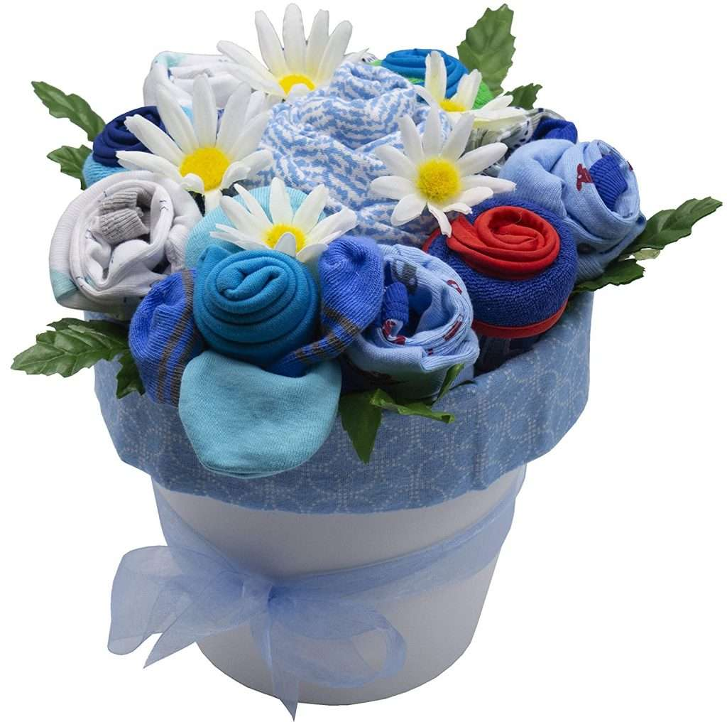 Deluxe New Baby Blossom Clothing Bouquet