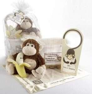 Five Little Monkeys 5-Piece Gift Set in Keepsake Basket