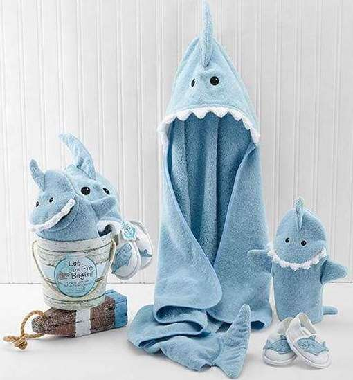 Let the Fin Begin Shark 4-Piece Bath Gift Set