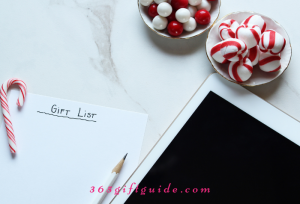 Make a gift list for the holidays to save time and money