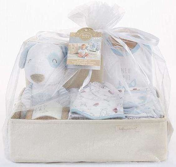 New Pup 9-Piece Baby Gift Basket