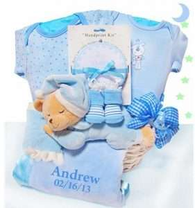 Personalized Bear Nap Time Gift Basket