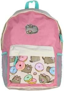Pusheen Cat Donuts Zipper Backpack