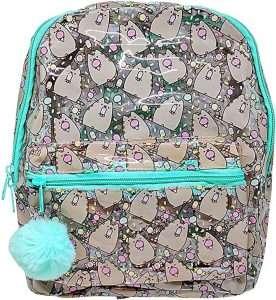 Pusheen Character All Over Popsicle Print PVC Mini Backpack