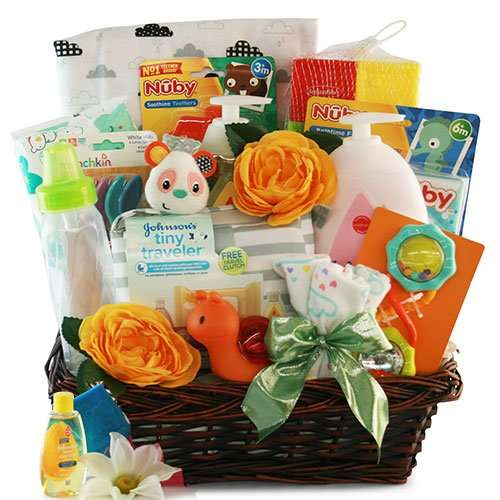 Sophisticated Baby Gift Basket