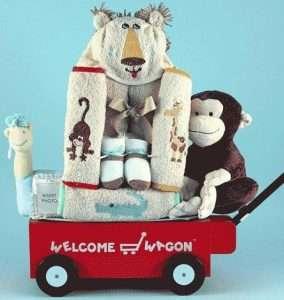 Welcome Wagon Baby Boy Gift Basket