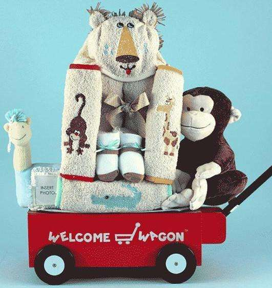 Welcome Wagon Baby Boy Gift Basket