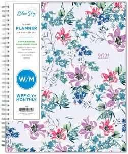 Blue Sky Floral 2021 Planner