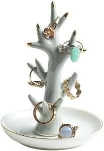 Ceramic Ring Holder Jewelry Decor Organizer