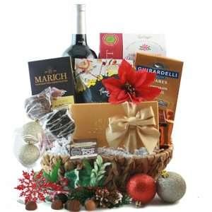 Chocolate & Red Wine Christmas Wine Basket
