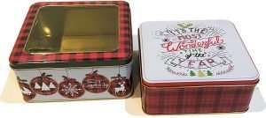 Christmas Cookie Tins with Lids