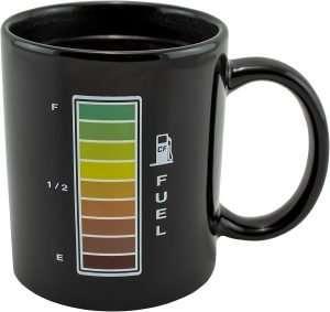 Heat-Reactive Fuel Gauge Coffee Mug