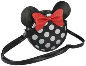 Minnie Mouse with Ears Faux Leather Shoulder Bag