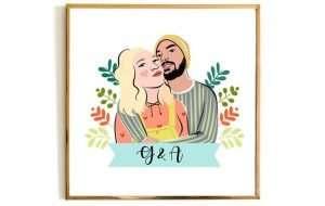 Personalized Couple Portrait