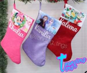Personalized Disney Character Christmas Stockings