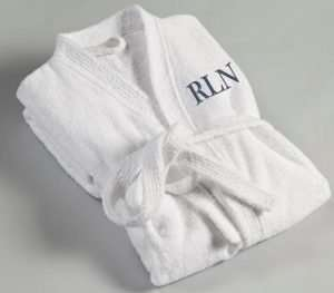 Personalized Men's Embroidered Bathrobe