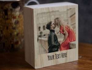 Personalized Photo on wood slice