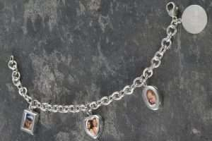 Personalized Sterling Silver Photo Charm Bracelet
