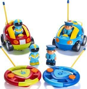 Prextex Pack of 2 Cartoon Police Car