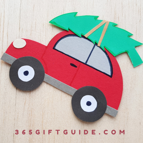 Simple Christmas Tree Car Craft