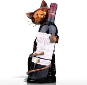 Tooarts Cat Shaped Wine Holder