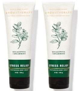 Bath & Body Works Aromatherapy Stress Relief Eucalyptus Spearmint Body Cream