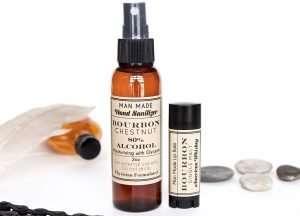 Bourbon Lip Balm and Hand Sanitizer