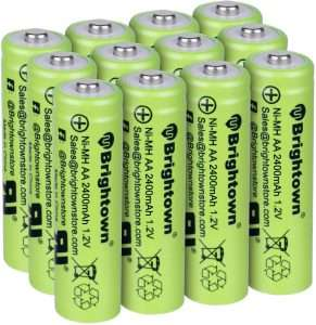Brightown 12-pack Rechargeable Batteries