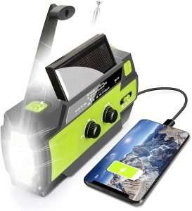 Emergency Solar Hand Crank Portable Weather Radio
