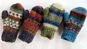 Hemp & Knit Blend Mittens