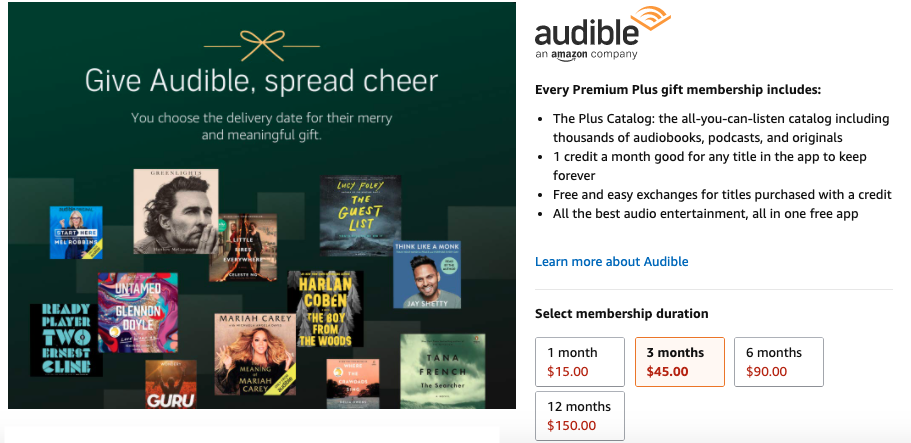 How to Give the Gift of Audible