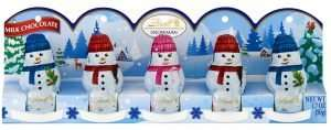 Lindt Holiday Hollow Milk Chocolate Mini Snowman