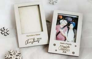Personalized Set of 5 Christmas Mini Frames