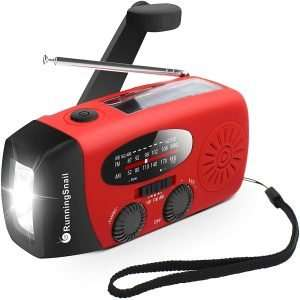 RunningSnail Emergency Hand Crank Self Powered Weather Radio