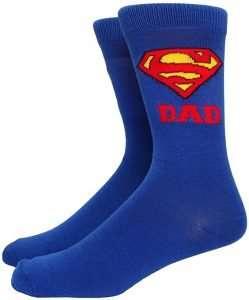 Superman Super Dad Adult Crew Socks