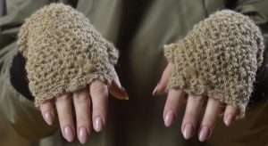 Womens Hemp Mittens
