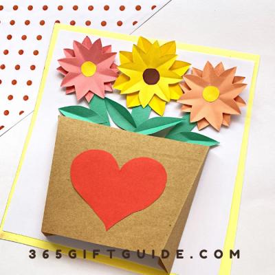 DIY Valentine's Day Craft, Paper Flower Vase