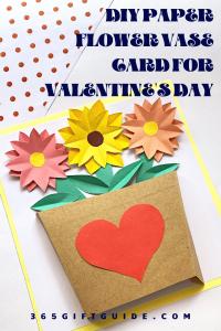 DIY paper flower vase craft for valentine's day