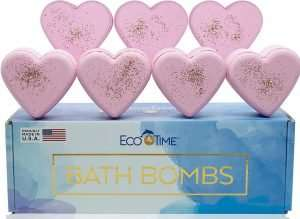 Eco Time Valentine's Day Heart Bath Bombs Gift Set