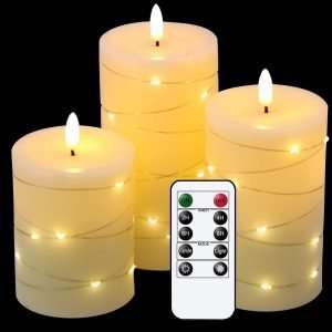 Eldnacele Flameless Flickering Candles