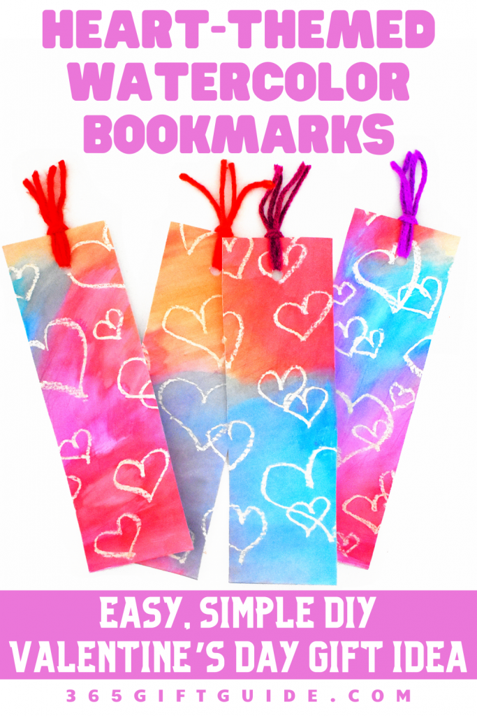 Heart-Themed Watercolor Bookmarks