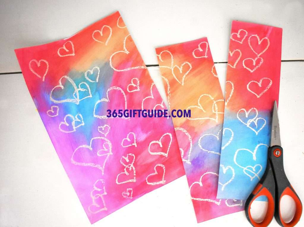 Heart Themed Watercolor Bookmarks Step 3