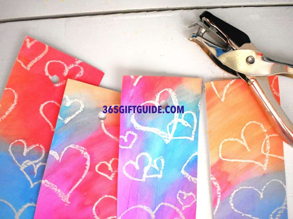 Heart Themed Watercolor Bookmarks Step 4