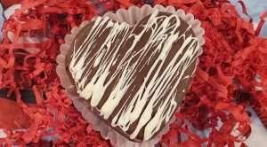 Hot chocolate bomb heart
