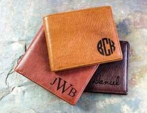 Monogrammed Genuine Leather Men's Wallet