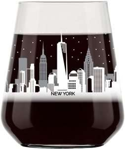 New York City Skyline Stemless Wine Glass
