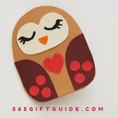 Paper Owl Craft DIY Valentine's Day Craft
