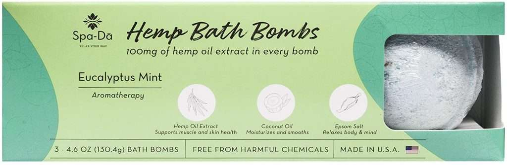 Spa-Da Hemp Bath Bombs Pack